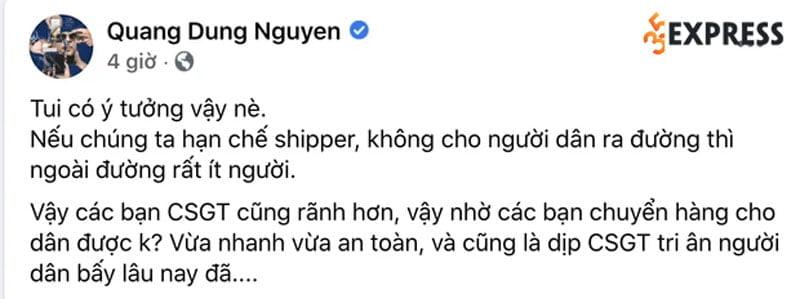 dao-dien-nguyen-quang-dung-phan-ung-ra-sao-sau-khi-bi-chi-trich-vi-de-xuat-csgt-lam-shipper-giua-mua-dich-tai-tphcm-2-35express
